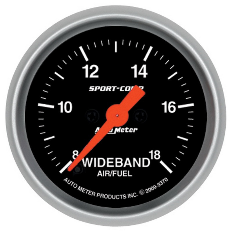 Autometer Sport-Comp 52mm Full Sweep Electronic Analog Wideband Air/Fuel Ratio Gauge