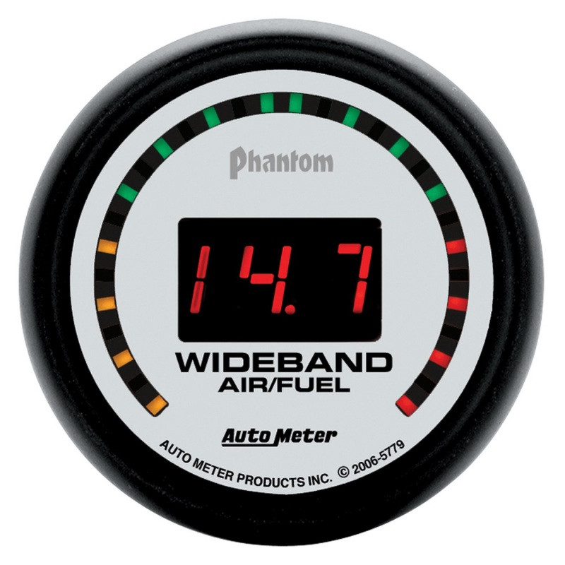 Autometer Phantom 52mm Digital 10:1-17:1 Street Wideband Air/Fuel Ratio Gauge