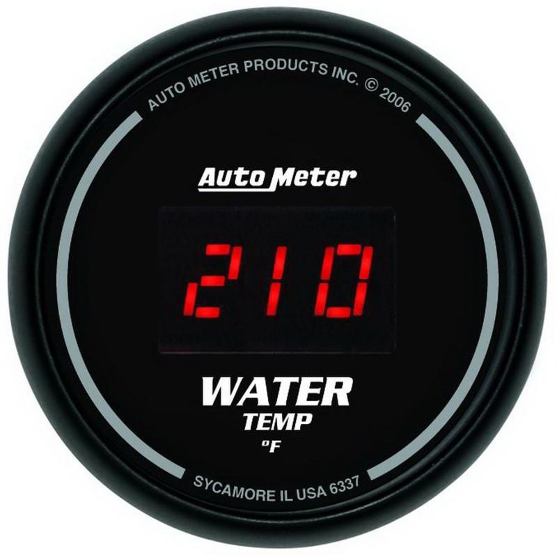 Autometer Black 0-300F Digital Water Temp Gauge