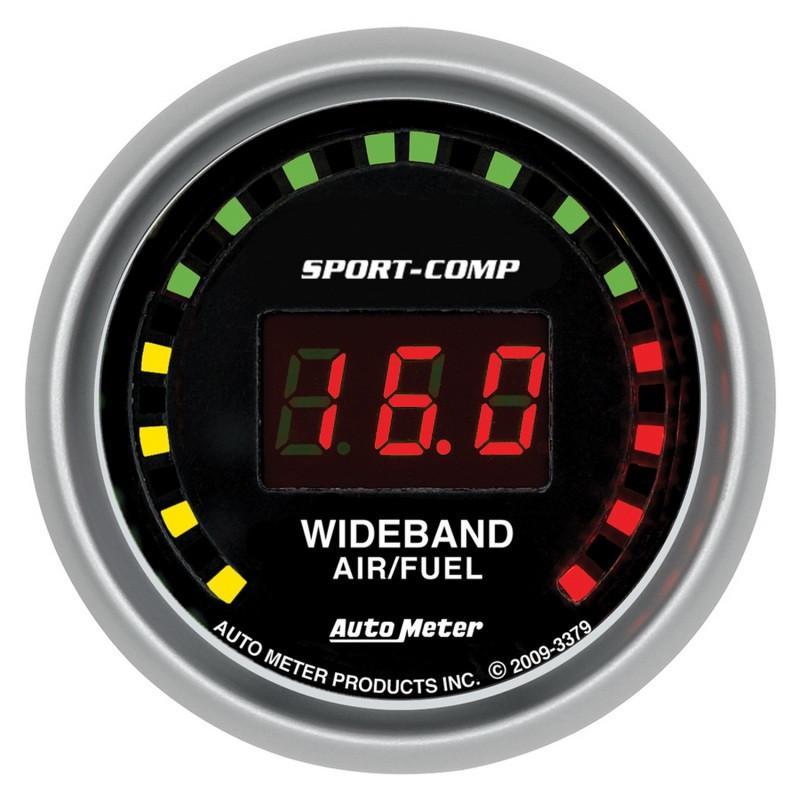 Autometer Sport-Comp 52mm Digital Wideband Air/Fuel Ratio Street Gauge