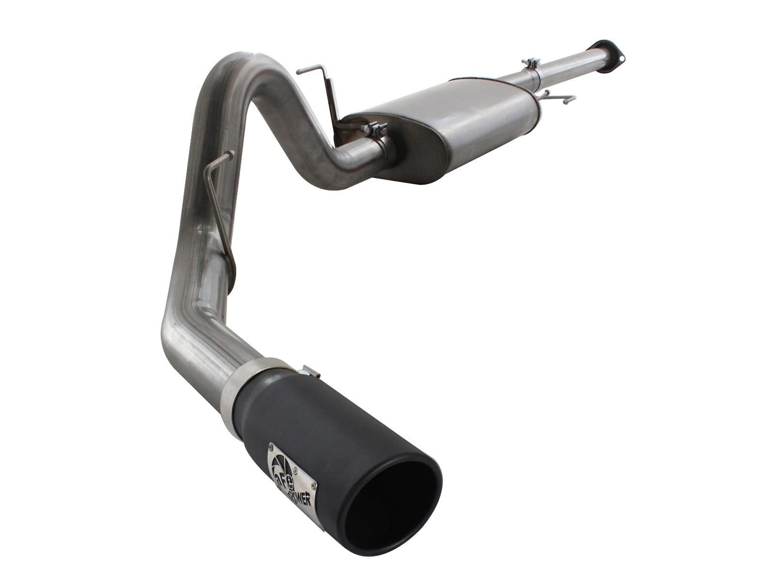 aFe Power aFe MACHForce XP Exhaust Cat-Back SS 409 Wrinkle blk (11-14 Ford F-150 | 3.5L V6)