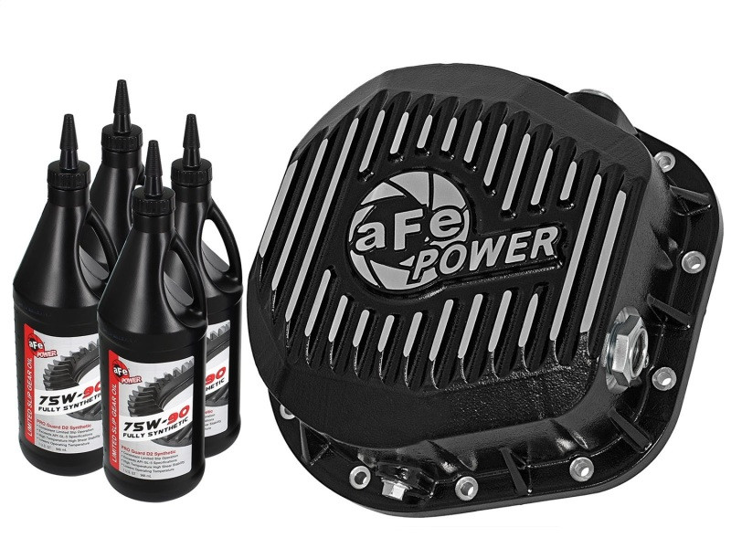 aFe Power aFe Rear Differential Cover, Machined Fins; Pro Series w/ Gear Oil (86-20 Ford F-250/F-350/Excursion | V8 6.0L/6.2L/6.4L/6.7L/6.9L/7.3L)