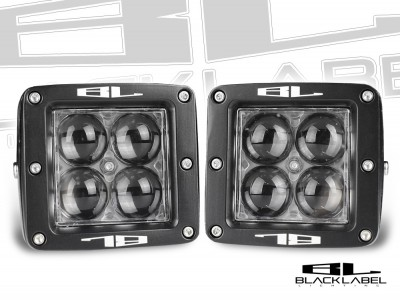 3 inch Black Label Lighting Dual LED Cube Kit in <b>Spot</b>
