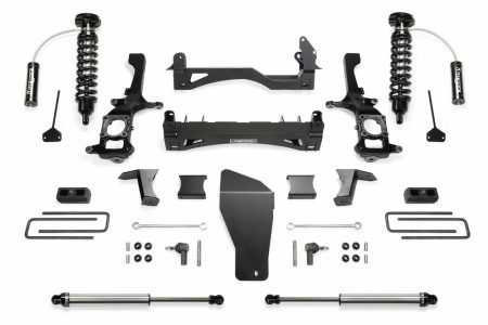 Fabtech 6″ PERFORMANCE SYSTEM W/ FRONT DIRT LOGIC 2.5 RESI COILOVERS & REAR DIRT LOGIC SHOCKS - Gas