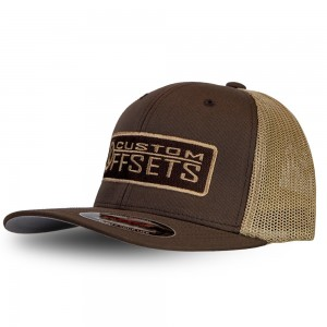 Fitted Custom Offsets Trucker Hat - Brown/Beige