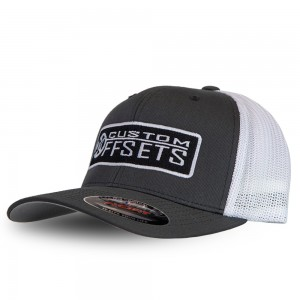 Fitted Custom Offsets Trucker Hat - White/Grey