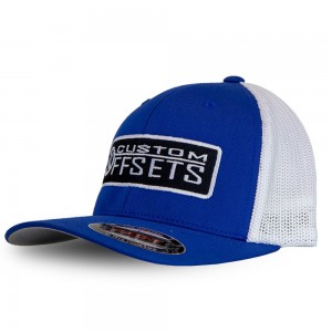Fitted Custom Offsets Trucker Hat - White/Blue