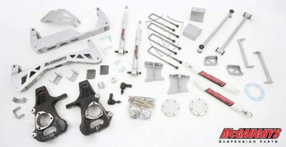 """McGaughys 7"""" Premium Stainless Steel Lift Kit for 2007-2013 GM Truck 1500 (2WD)"""