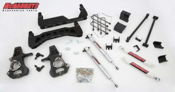 "McGaughys 7"" Basic Lift Kit for 2014-2018 GM Truck 1500 (2WD) w/ Cast Steel Factory A-Arms ONLY"