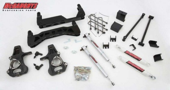 "McGaughys 7"" Basic Lift Kit for 2014-2018 GM Truck 1500 (2WD) For FACTORY Stamped Steel or Aluminum A-Arm Trucks"