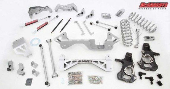 "McGaughys 7"" Premium Lift Kit for 2001-2006 GM SUV 1500 (2WD, Auto Leveling)"