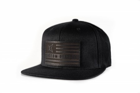 Custom Offsets Leather Flag Patch Snapback