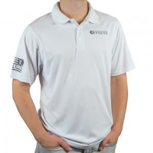 Custom Offsets White Performance Polo