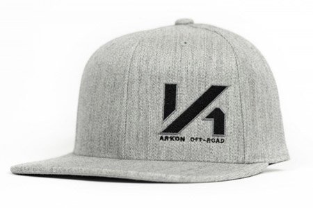 ARKON Heather Grey Flexfit Flat Brim Snapback