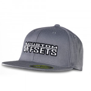 Custom Offsets Grey Flex Fit Flat Brim Hat