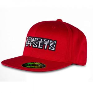 Custom Offsets Red Flex Fit Flat Brim Hat