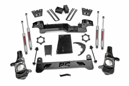 Rough Country Rough Country 6in GM Suspension Lift Kit (01-10 2500HD 4WD)
