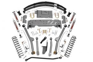 """Rough Country 6.5"""" Jeep Long Arm Suspension Lift System (Only T-case NP242)"""