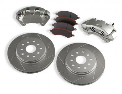 TeraFlex Teraflex JK/JKU Front Big Brake Kit w/ Slotted Rotors