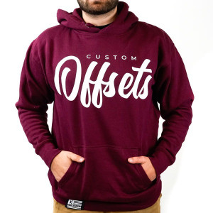 Custom Offsets Lifestyle Hoodie (Maroon and White)