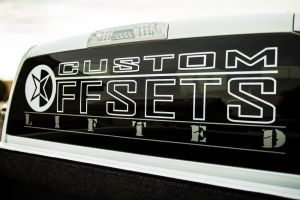 "48"" Custom Offsets ""Lifted"" Rear Window Decal"
