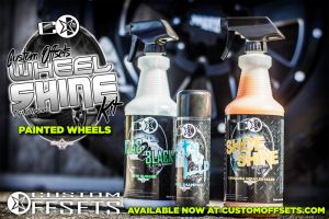 Wheel shine kit for Painted Wheels INCLUDES Detailer and New Rubber