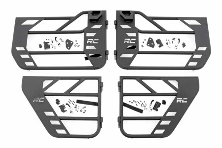 Rough Country Jeep Front & Rear Steel Tube Doors (18-20 Wrangler JL & 2020 Gladiator)