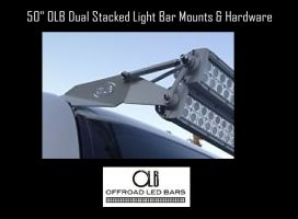 50 inch (OLB) Dual Stacked LED light bar Roof Mounts and Hardware
