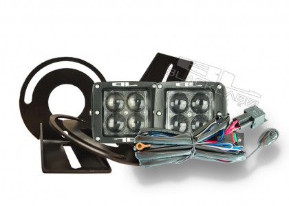 3 Inch Black Label Lighting LED Cube Foglight Kit 2007-2013 GMC Sierra
