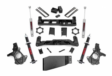"Rough Country 5"" Suspension Lift Kit - Premium N3 Rear & Premium N2.0 Struts"