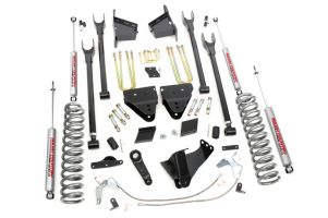 """Rough Country 6"""" Ford 4-Link Suspension Lift Kit w/  Factory Overloads (Diesel)"""