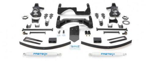 "Fabtech 6"" Basic System w/   Rear Shocks - 2007-13 GM 1500 4WD"