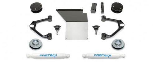 "Fabtech 4"" Budget System w/   Rear Performance Shocks - 2007-14 GM C/K1500 SUV 2WD/4WD"