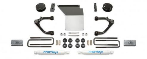 "Fabtech 4"" Uniball UCA System w/   Rear Performance Shocks - 2014-17 GM 1500 2WD/4WD"