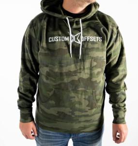 Custom Offsets Light-weight Camo Hoodie (Green)