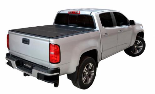LOMAX Hard Tri-Fold Tonneau Cover Chevy/GMC 15-19 2500/3500
