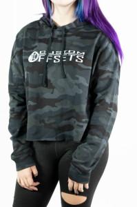 Camo Crop Top Sweatshirt