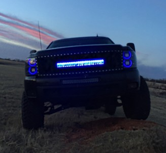 30 inch Black Label Lighting Behind the grille kit for your 2007-2013 Silverado 1500 and 2500