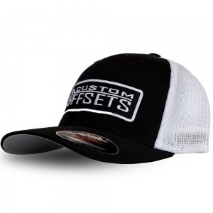 Fitted Custom Offsets Trucker Hat - Black/White