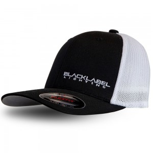 Trucker Hat - Fitted mesh Black Label Lighting white and black