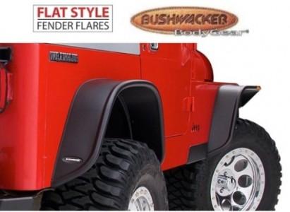 Bushwacker Flat Style Fender Flare - Set of 4 - Matte Black