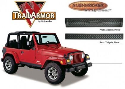 Bushwacker Jeep Trail Armor Front  Rear Accent - Set - OE Matte Black