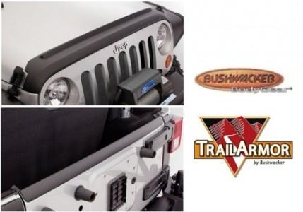 Bushwacker Jeep Trail Armor Hood and TailGate Protector - Set - OE Matte Black