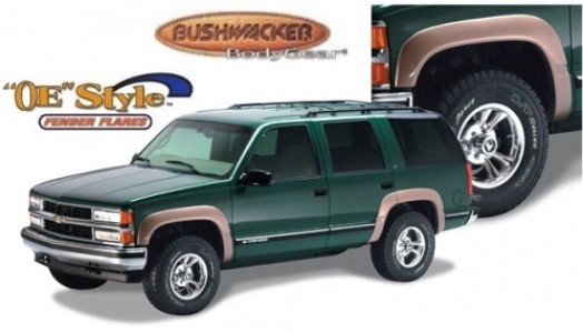 Bushwacker OE Style Fender Flare - Set of 4 - Matte Black