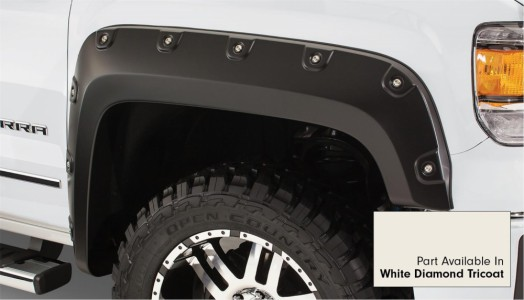 Bushwacker Boss Pocket Style Fender Flare - Set of 4 - White Diamond Tricoat Paint Code GBN