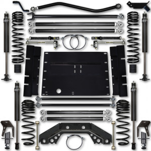 Rock Krawler TJ 3.5 Inch X Factor 5 Inch Stretch Stg 1 Long Arm Lift Kit w/ 2.25 RRD Shocks