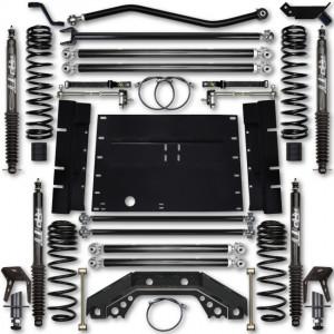 Rock Krawler TJ 3.5 Inch X Factor 5 Inch Stretch Long Arm Lift Kit w/ Twin Tube Shocks