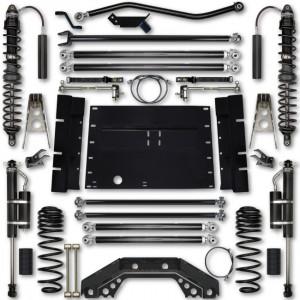 Rock Krawler TJ 4.5 Inch X Factor Long Arm Stg 2 Lift Kit w/ Remote Reservoir Coilover Shocks