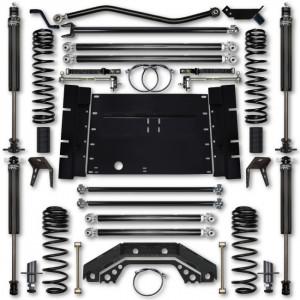 Rock Krawler TJ 4.5 Inch X Factor 5 Inch Stretch Stg 1 Long Arm Lift Kit w/ 2.25 RRD Shocks