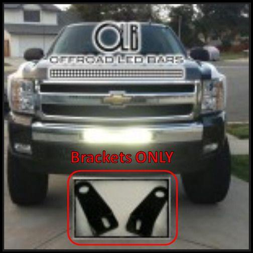 20 Inch Offroad Led Light Bar Bumper Bracket Only Olb For 2007 5 2013 Chevrolet Silverado 1500